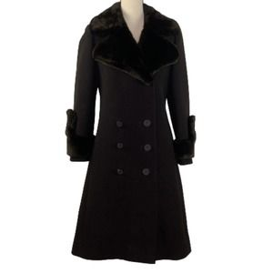 German Brown Schurwolle Coat Size 40